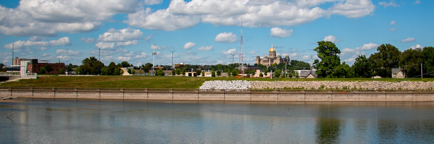 Des Moines River with Capitol in the Distance