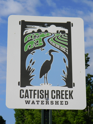 Watershed Approach Catfish Creek sign