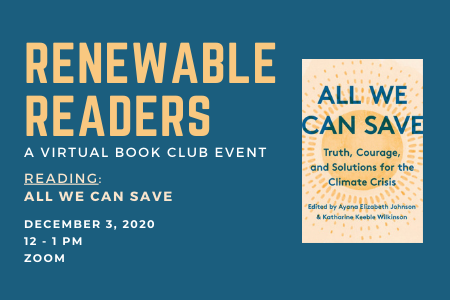 Renewable Readers: A Virtual Book Club Event
