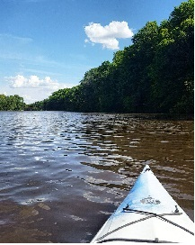 Kayaking on the Wapsipinicon River